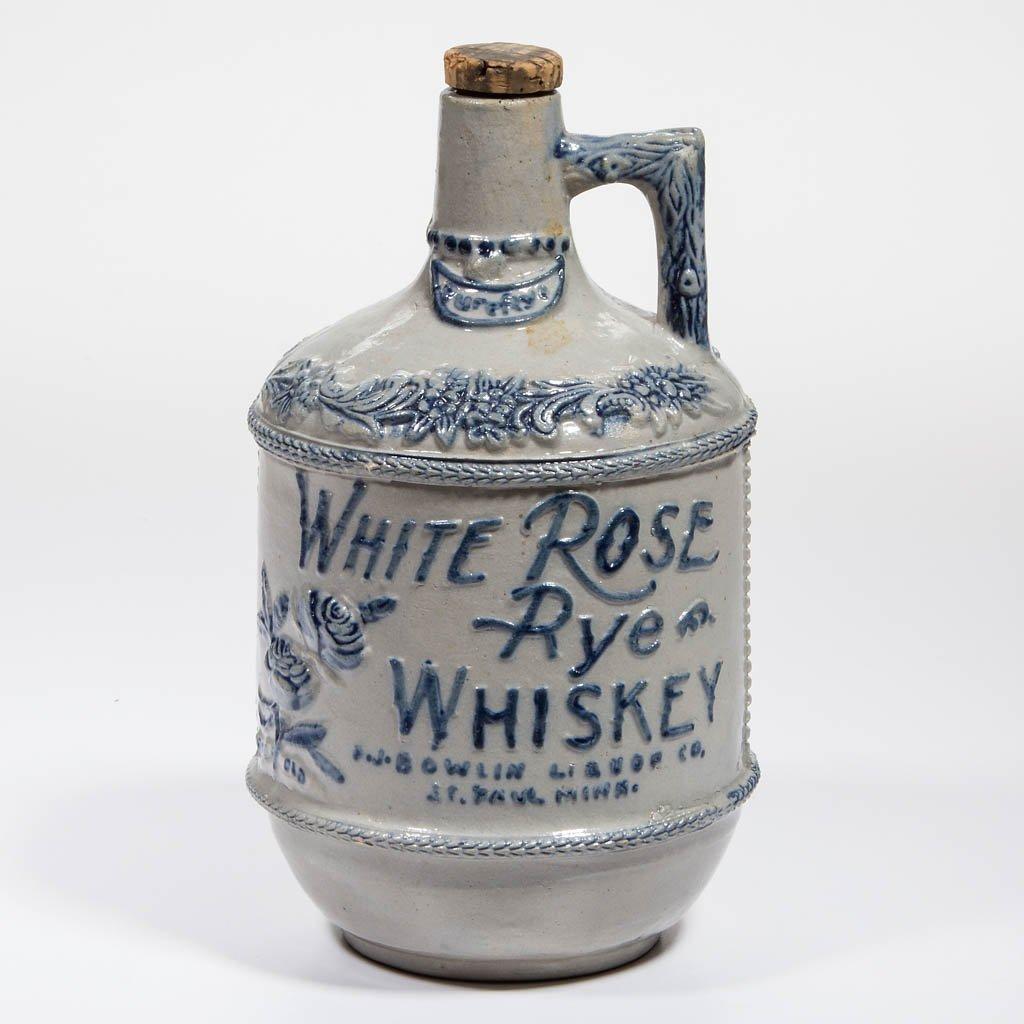WHITE ROSE RYE WHISKEY ADVERTISING JUG