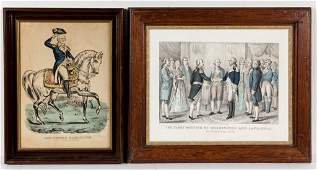 AMERICAN HISTORICAL PRINTS, LOT OF TWO