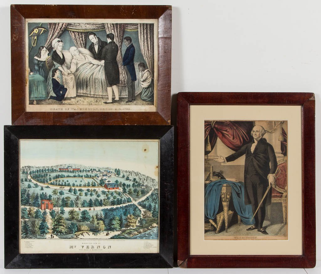 AMERICAN HISTORICAL PRINTS, LOT OF THREE