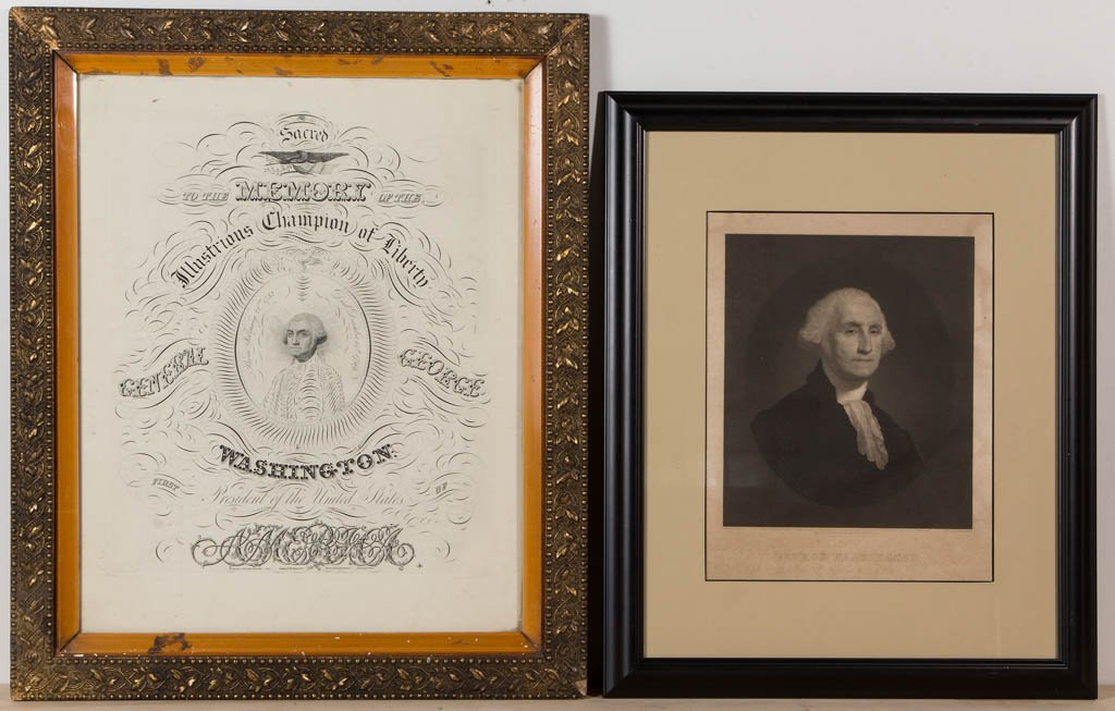 AMERICAN PRESIDENTIAL PORTRAIT PRINTS, LOT OF TWO