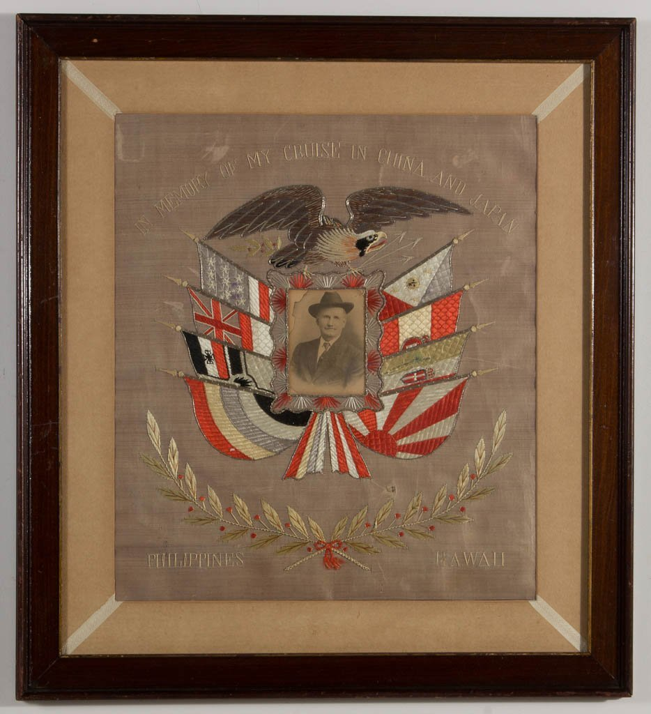 PAIR OF PATRIOTIC NEEDLEWORK PICTURES - 3