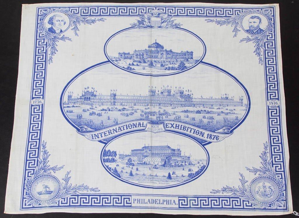 AMERICAN HISTORICAL PHILADELPHIA CENTENNIAL 1876 COTTON