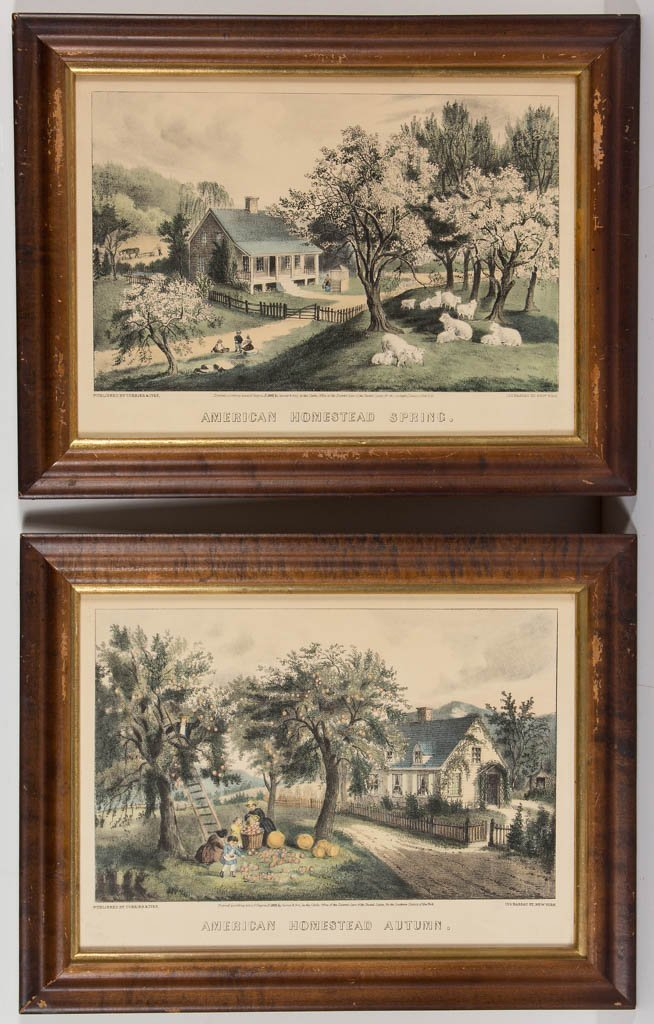 CURRIER & IVES AMERICAN LANDSCAPE PRINTS, LOT OF TWO