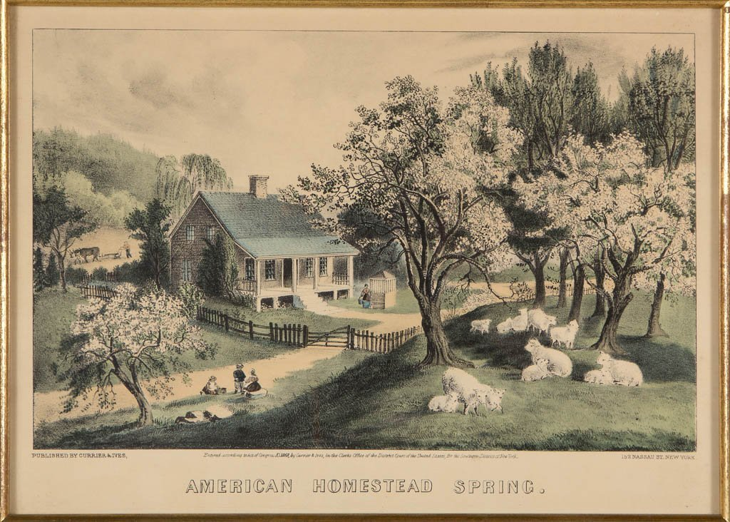 CURRIER & IVES AMERICAN LANDSCAPE PRINTS, LOT OF TWO - 2