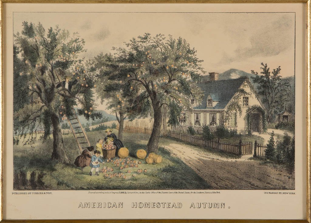 CURRIER & IVES AMERICAN LANDSCAPE PRINTS, LOT OF TWO - 3