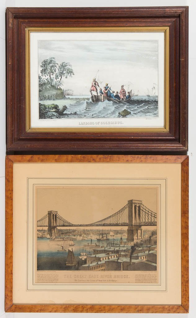 CURRIER & IVES AMERICAN CITYSCAPE PRINT