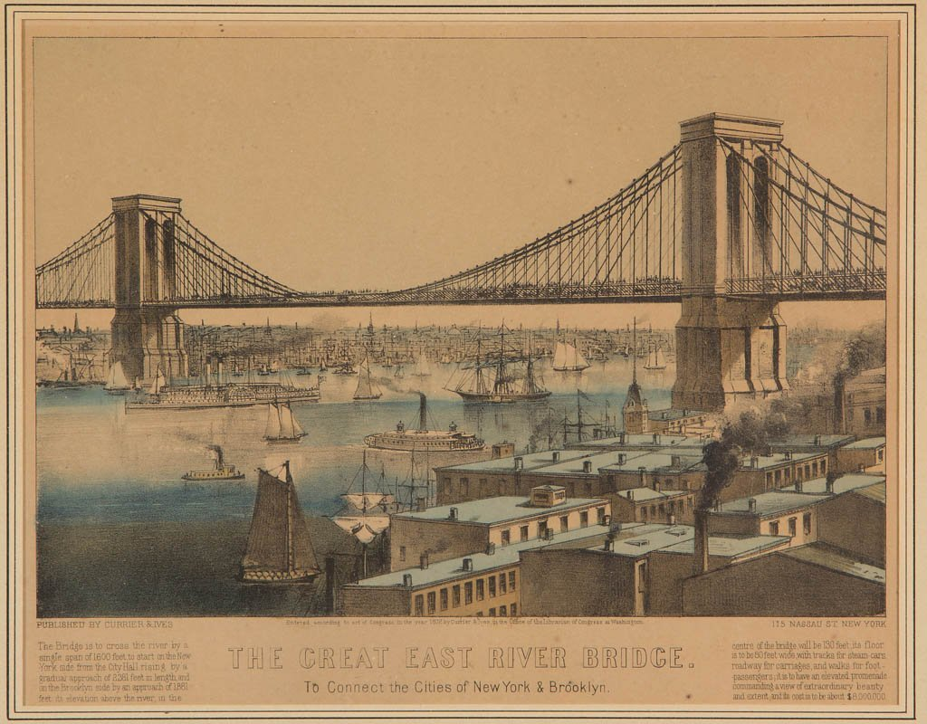 CURRIER & IVES AMERICAN CITYSCAPE PRINT - 2