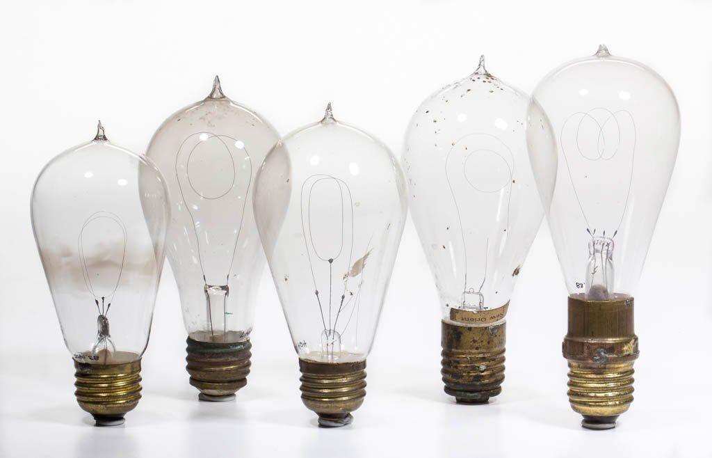 ASSORTED MANUFACTURERS LIGHT / LAMP BULBS, LOT OF FIVE