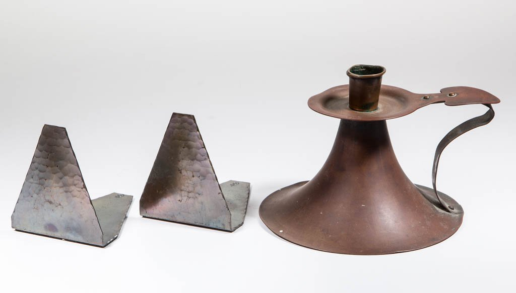 ARTS AND CRAFTS COPPER ARTICLES, LOT OF THREE
