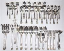 GORHAM STERLING SILVER FLATWARE ARTICLES LOT OF 39