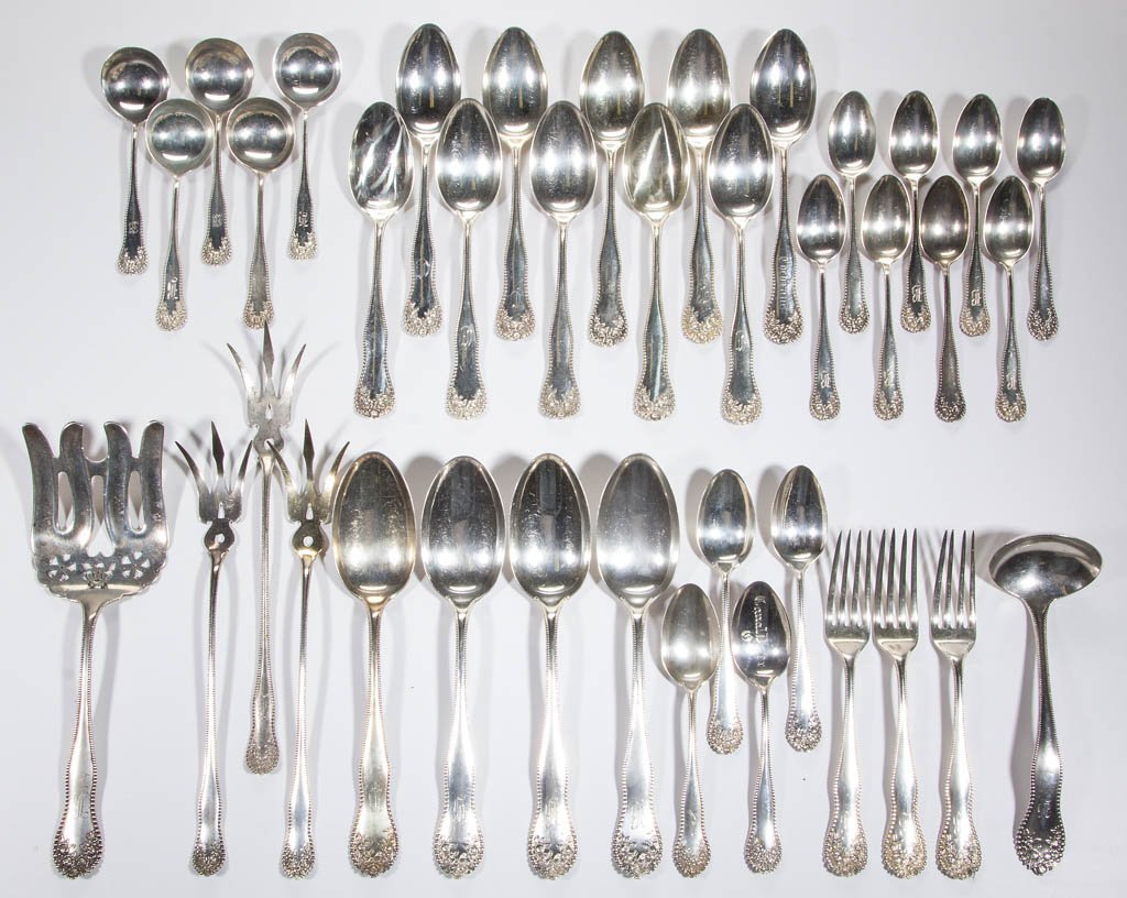 GORHAM STERLING SILVER FLATWARE ARTICLES, LOT OF 39