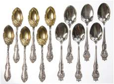 AMERICAN STERLING SILVER FLATWARE ARTICLES, LOT OF 12