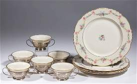 STERLING SILVER AND LENOX AMERICAN BELLEEK CERAMIC