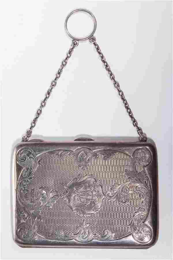 ENGLISH STERLING SILVER LADY'S PURSE