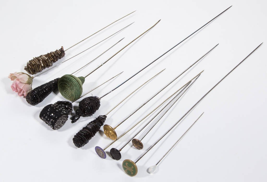 ASSORTED HATPINS, LOT OF 13 - 2