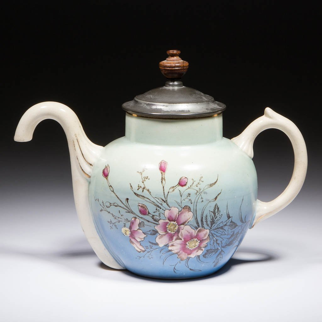 ENGLISH SELF-POURING CERAMIC TEAPOT
