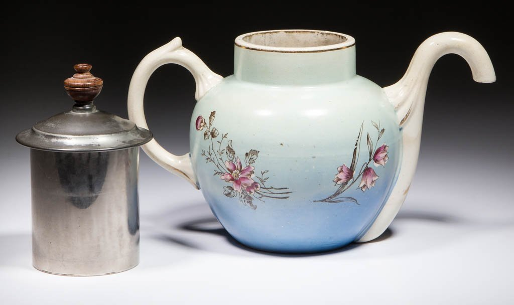 ENGLISH SELF-POURING CERAMIC TEAPOT - 2
