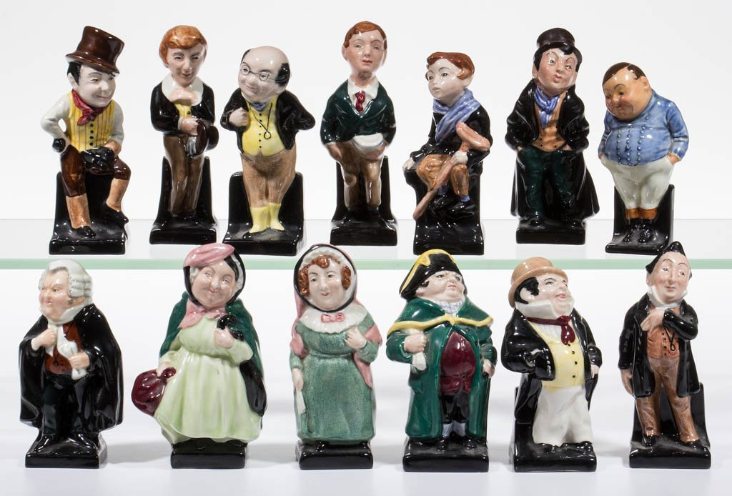 ENGLISH ROYAL DOULTON CHARLES DICKENS CERAMIC FIGURES,