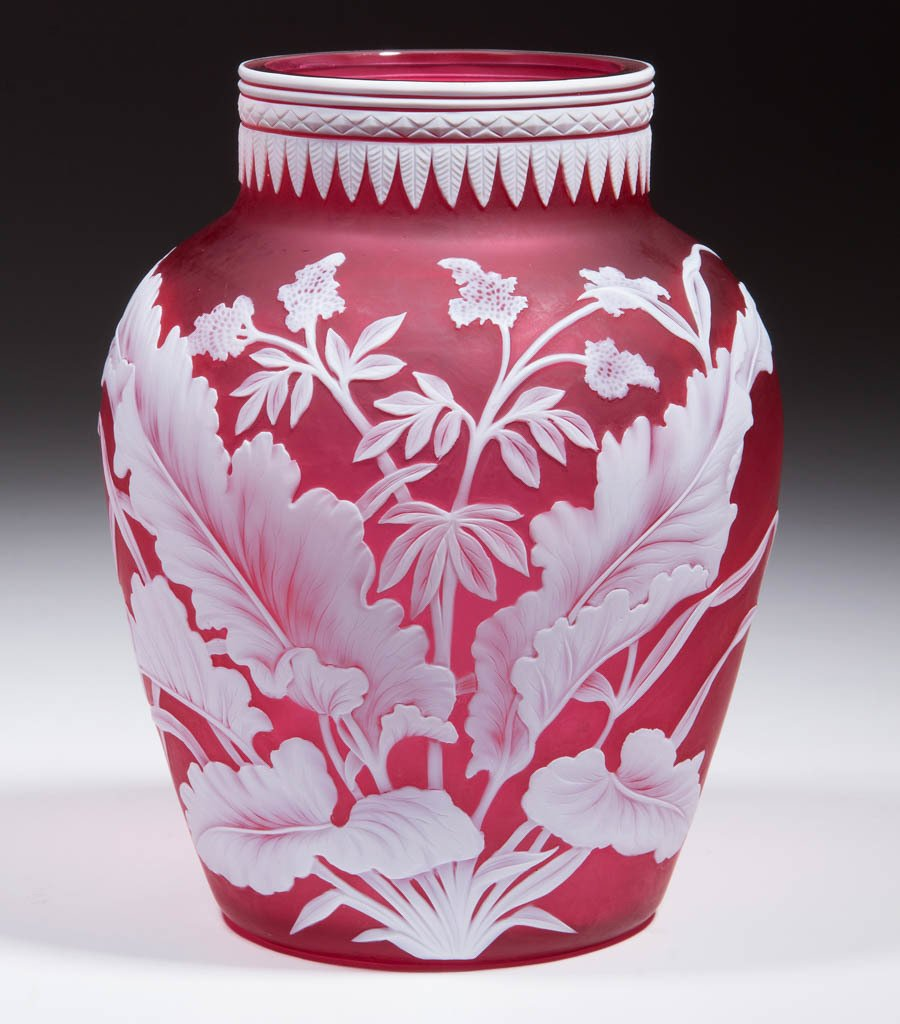 STEVENS AND WILLIAMS CAMEO GLASS VASE