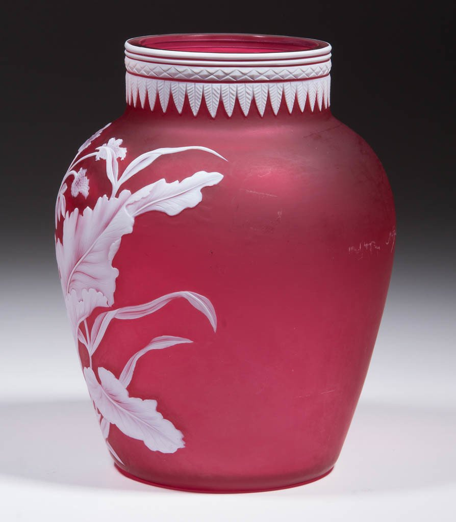 STEVENS AND WILLIAMS CAMEO GLASS VASE - 2