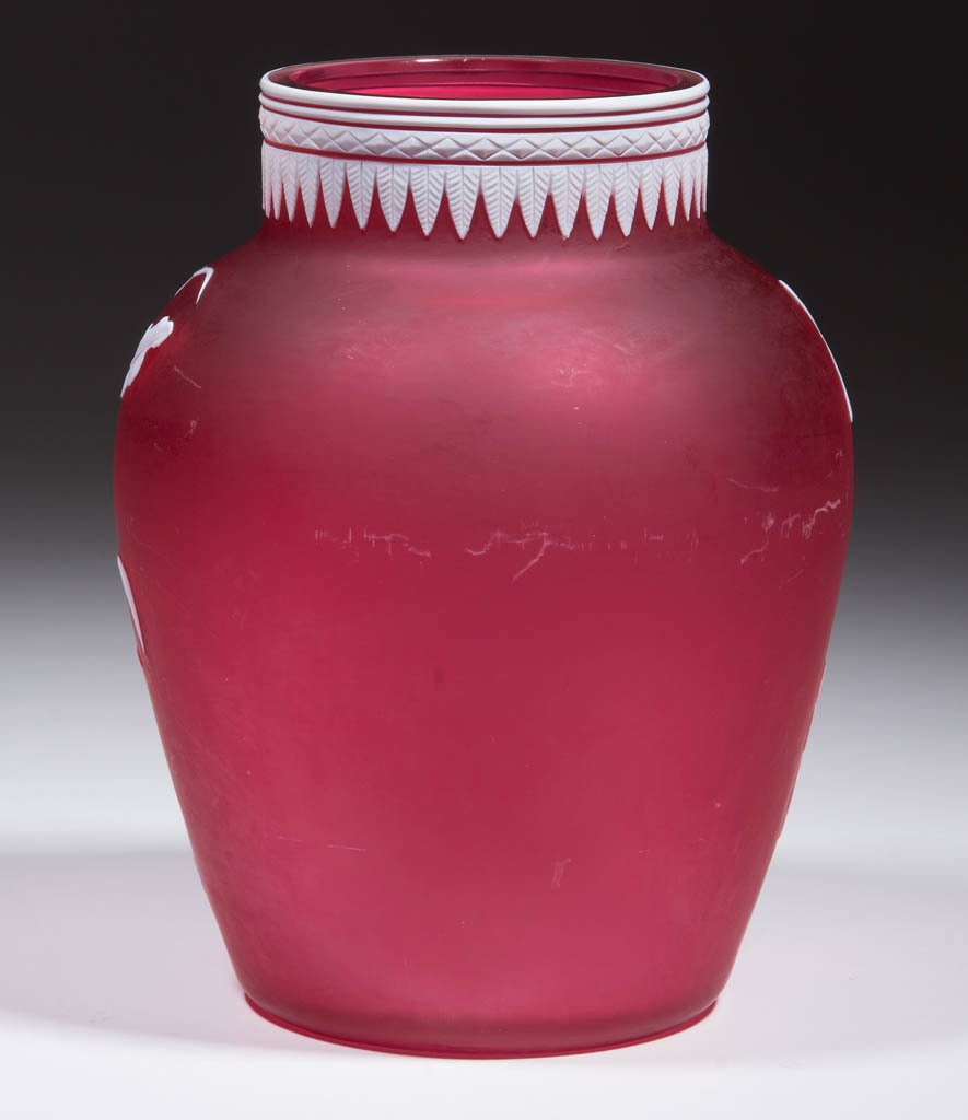 STEVENS AND WILLIAMS CAMEO GLASS VASE - 3