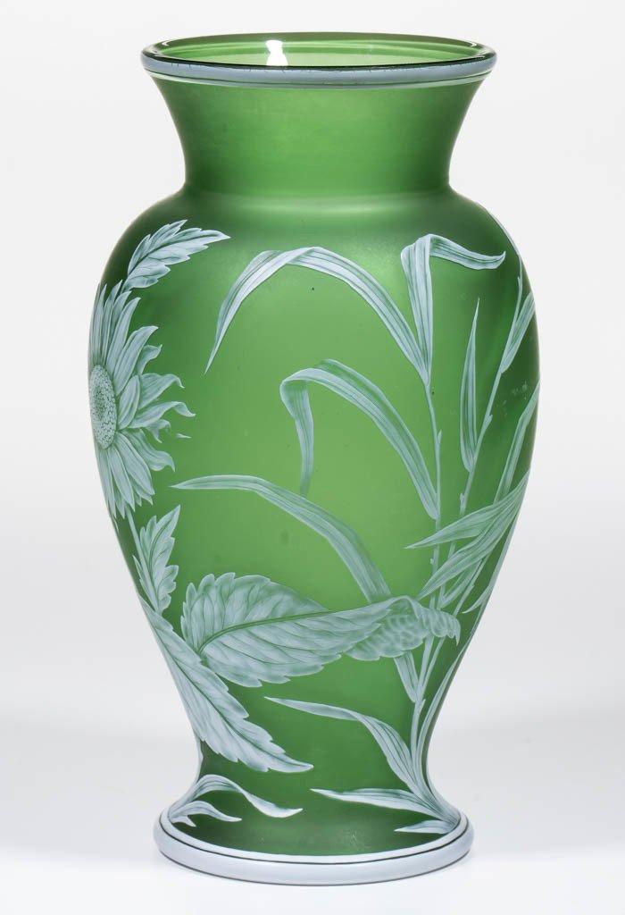 THOMAS WEBB CAMEO GLASS VASE - 2