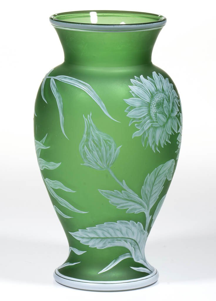 THOMAS WEBB CAMEO GLASS VASE - 4