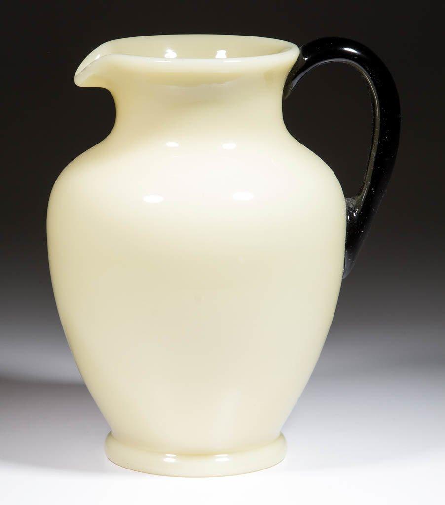 STEUBEN ART GLASS WATER PITCHER
