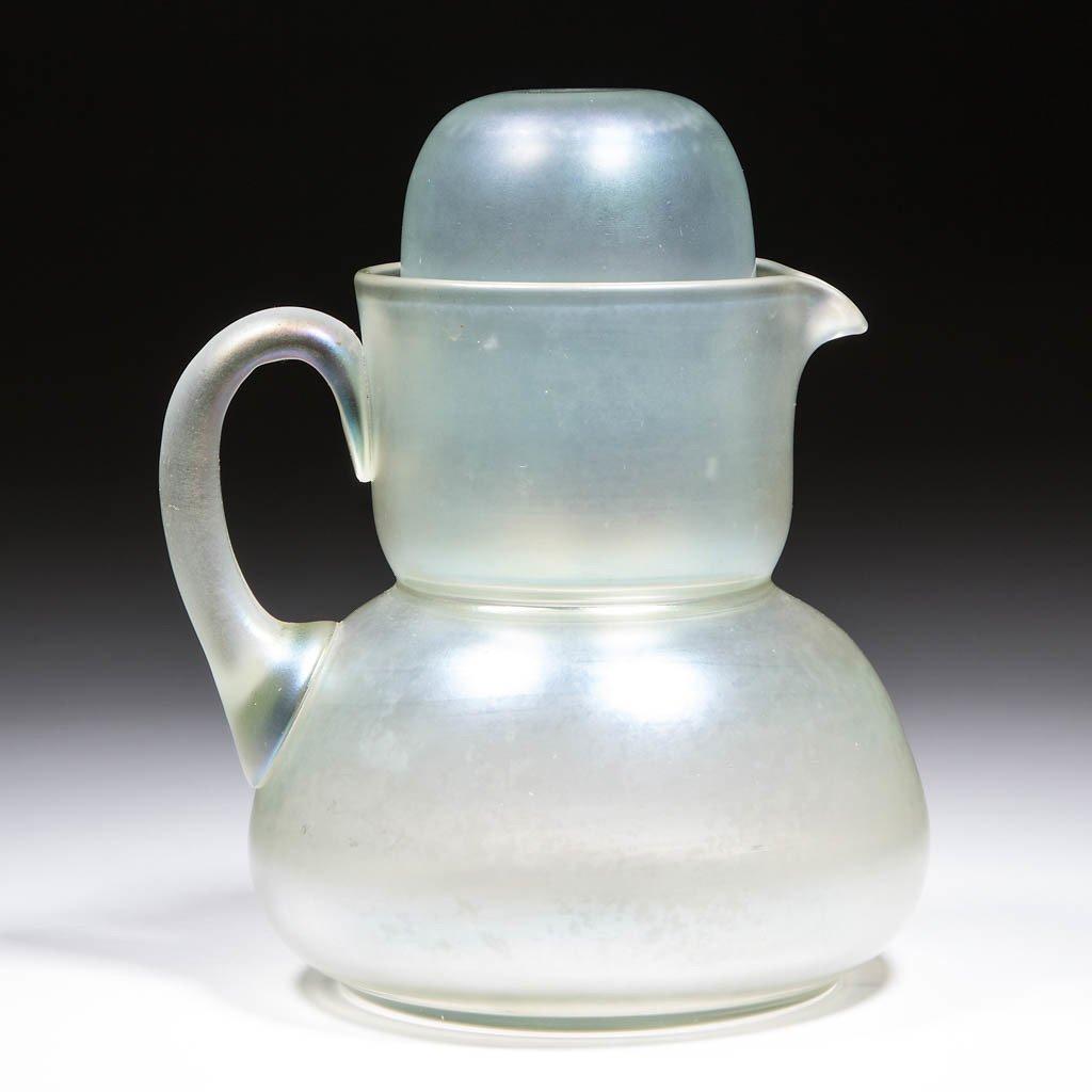 STEUBEN VERRE DE SOIE ART GLASS TUMBLE-UP
