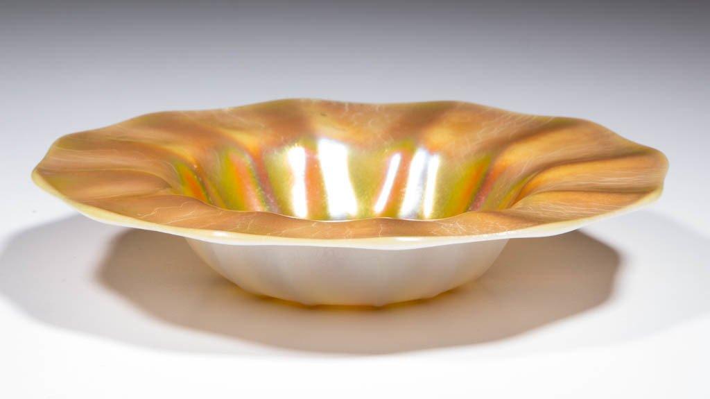 STEUBEN GOLD CALCITE DISH - 2