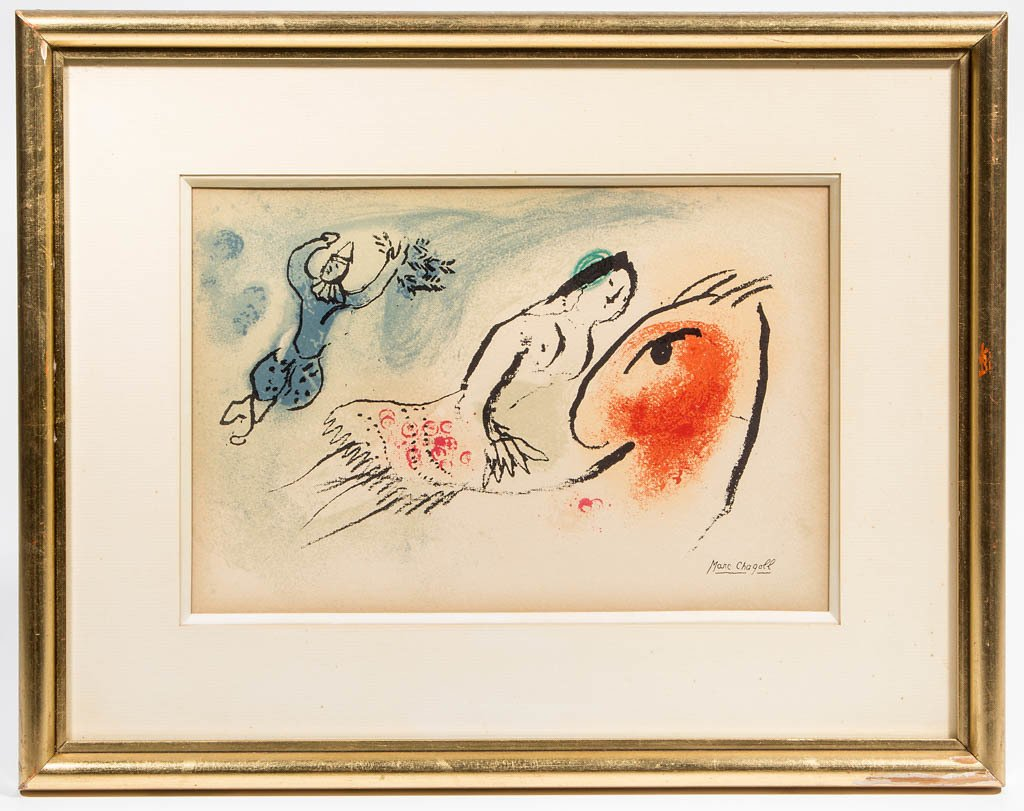 MARC CHAGALL (FRENCH, 1887-1985) ABSTRACT PRINT