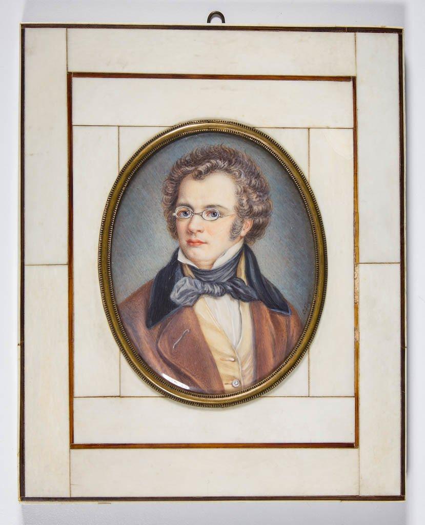 CARL JAGER (GERMAN, 1833-1887) MINIATURE PORTRAIT OF
