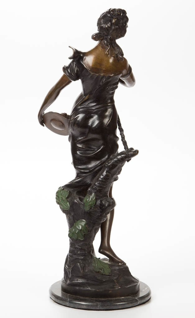 AFTER EMILE EDMOND PEYNOT (FRENCH, 1850-1932) BRONZE - 2