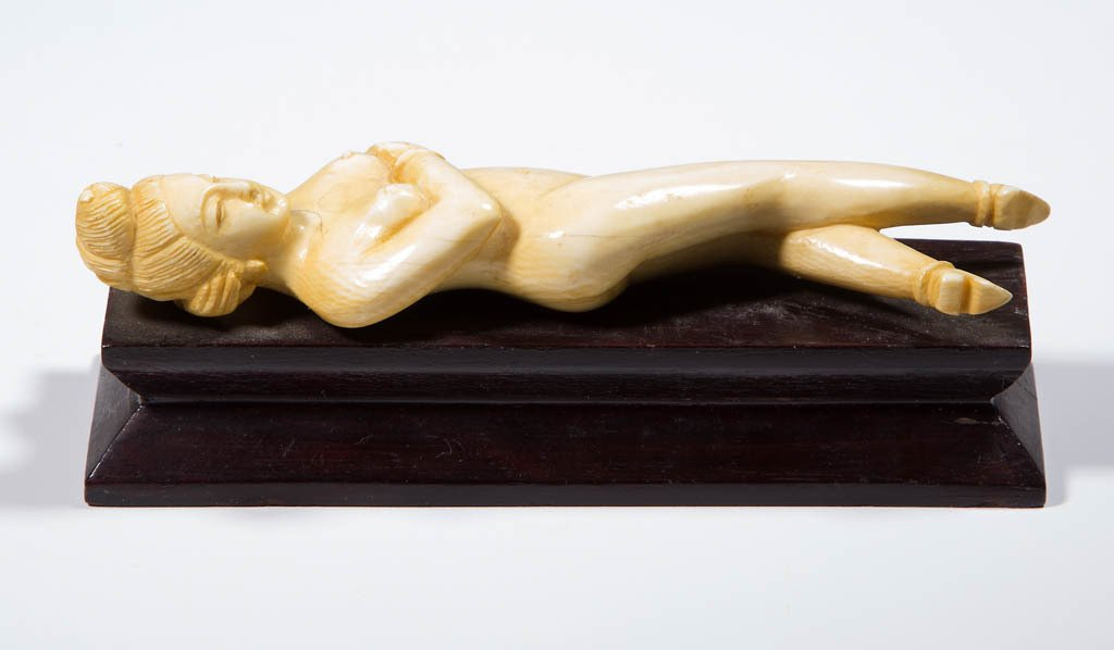 ASIAN CARVED EROTIC FIGURE - 2