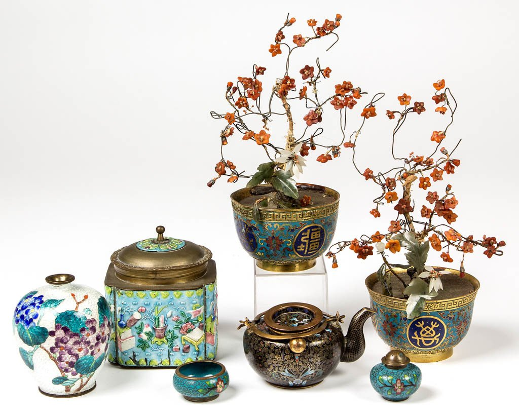 CHINESE / JAPANESE CLOISONNE AND ENAMELED ARTICLES, LOT