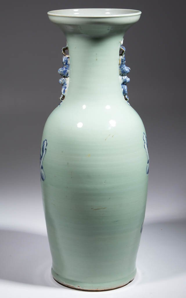 CHINESE EXPORT CELADON PORCELAIN FLOOR VASE - 3