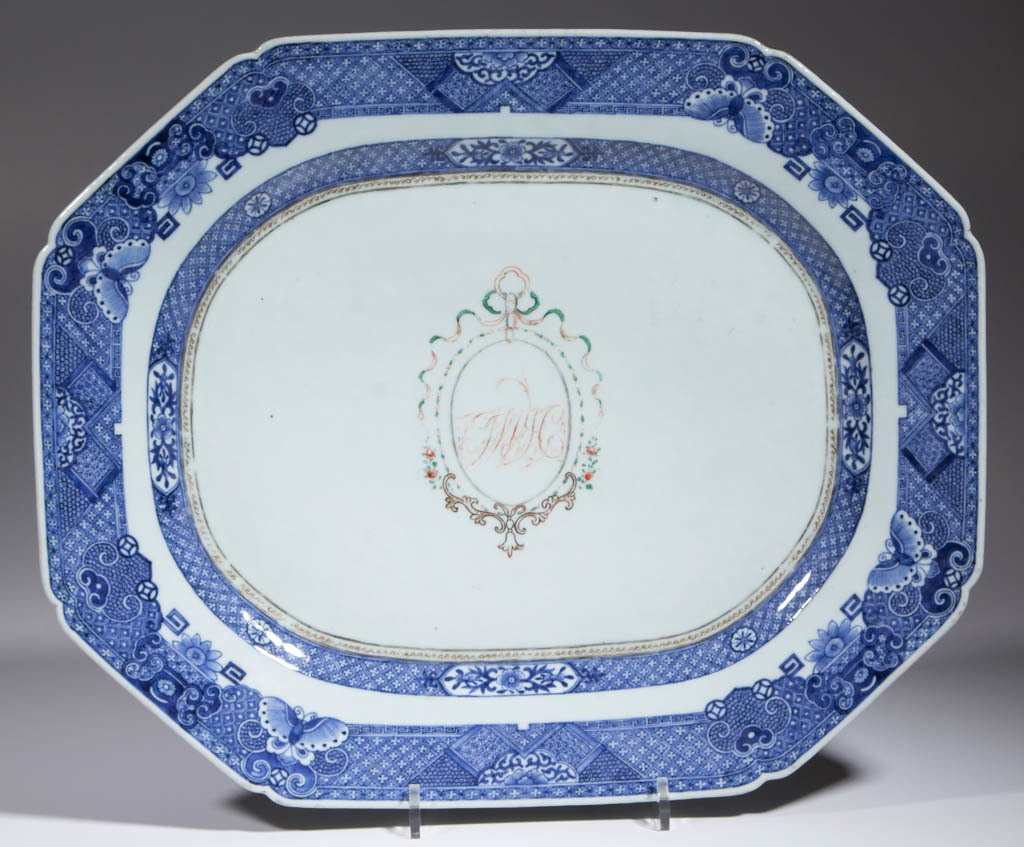CHINESE EXPORT FITZHUGH PORCELAIN PLATTERS, LOT OF TWO - 2