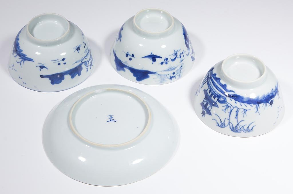 CHINESE EXPORT BLUE AND WHITE PORCELAIN TABLE ARTICLES, - 3