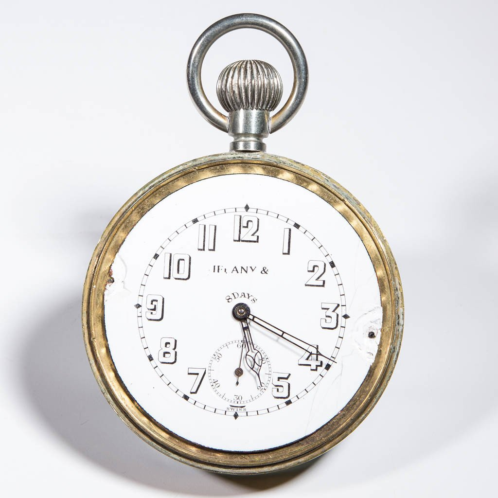TIFFANY & CO. BRASS AND GLASS EIGHT DAY BALL CLOCK - 2