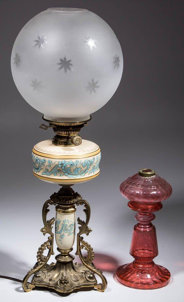 CONTINENTAL CERAMIC COMPOSITE OIL LAMP