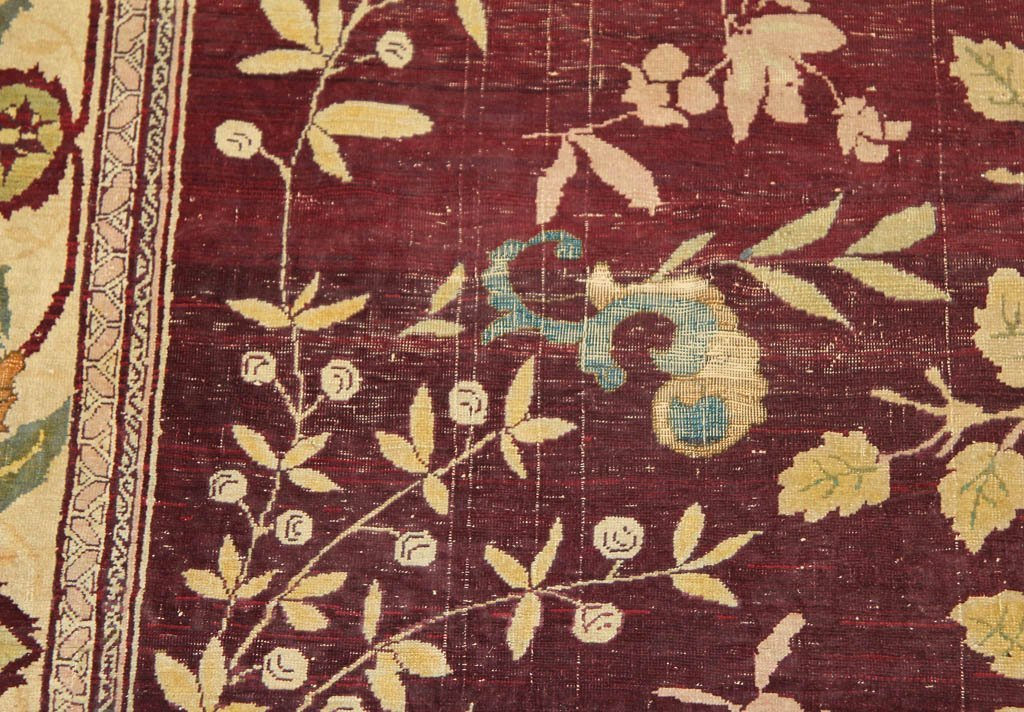 ANTIQUE SIGNED PICTORIAL TREE OF LIFE PERSIAN ROOM-SIZE - 10