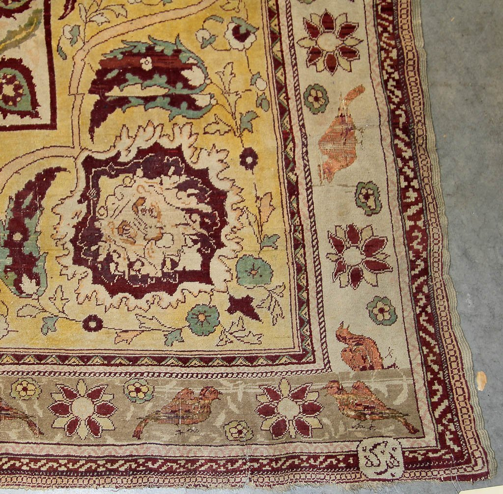 ANTIQUE SIGNED PICTORIAL TREE OF LIFE PERSIAN ROOM-SIZE - 2