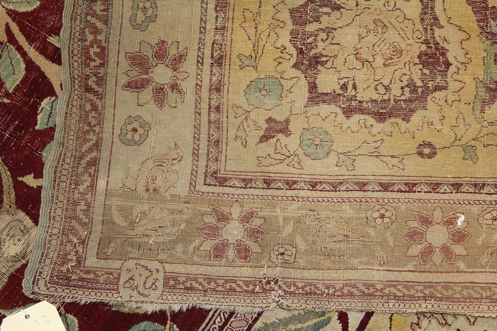 ANTIQUE SIGNED PICTORIAL TREE OF LIFE PERSIAN ROOM-SIZE - 3
