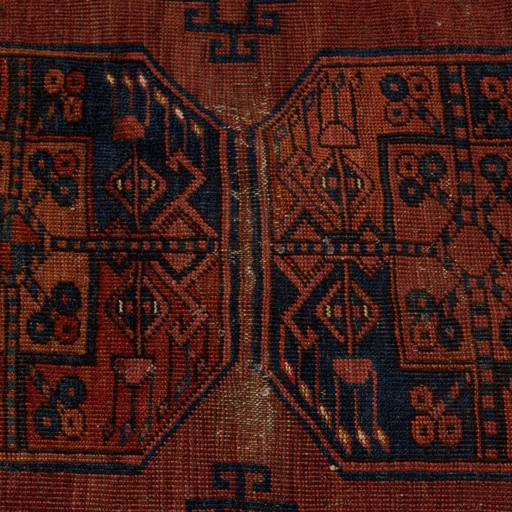 ANTIQUE ORIENTAL BOKHARA ROOM-SIZE RUG - 4