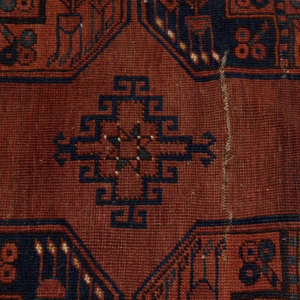 ANTIQUE ORIENTAL BOKHARA ROOM-SIZE RUG - 6