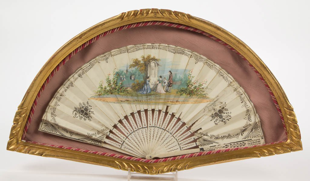 LADY'S DECORATIVE FOLDING HAND FAN