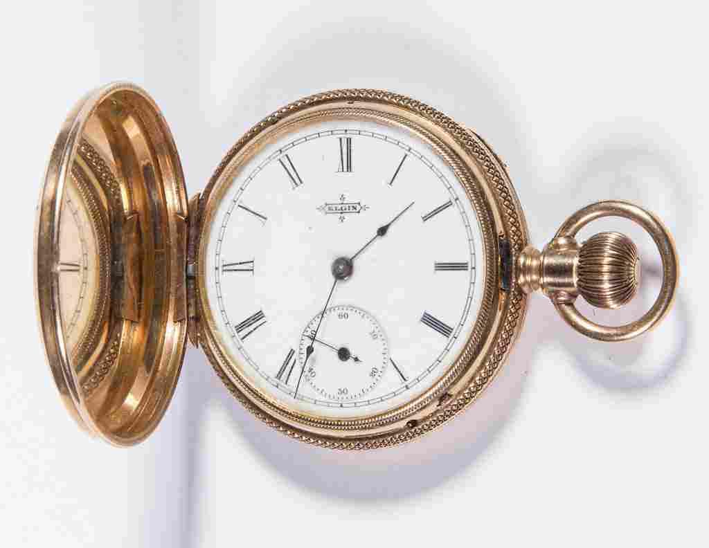 ELGIN 14K GOLD CASE 11JEWEL LADY'S MODEL 1 POCKET WATCH