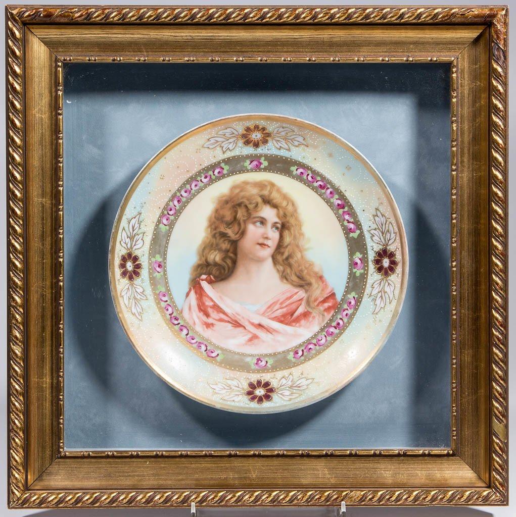 AUSTRIAN ROYAL VIENNA CERAMIC PORTRAIT PLATE