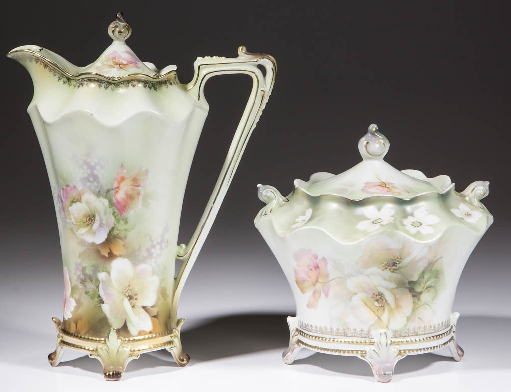 R.S. PRUSSIA CERAMIC ARTICLES, LOT OF TWO