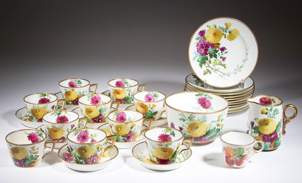 ENGLISH W. ALSAGER ADDERLEY (WAA) HAND-PAINTED CERAMIC